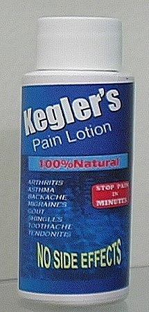 Click to Go to Kegler Pain Lotion Buying Page
